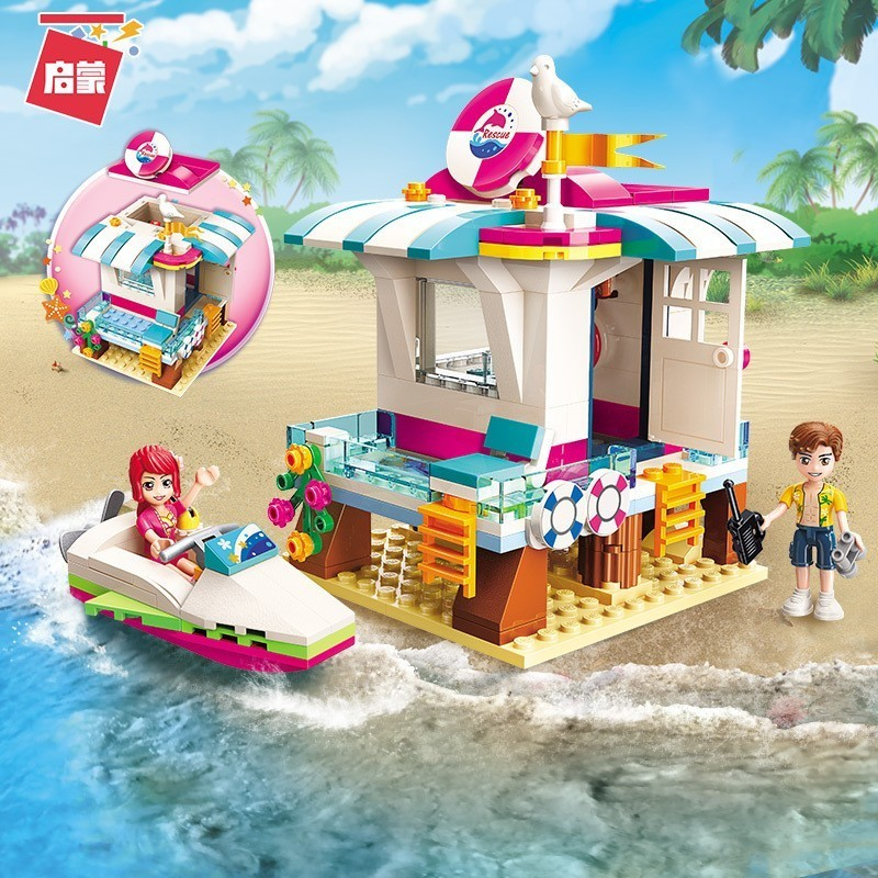 2018 2019 Enlighten Holiday Series Heartlake Beach Camping Building Blocks Toys For Children Compatible Legoing Girls Friends in Blocks from Toys Hobbies