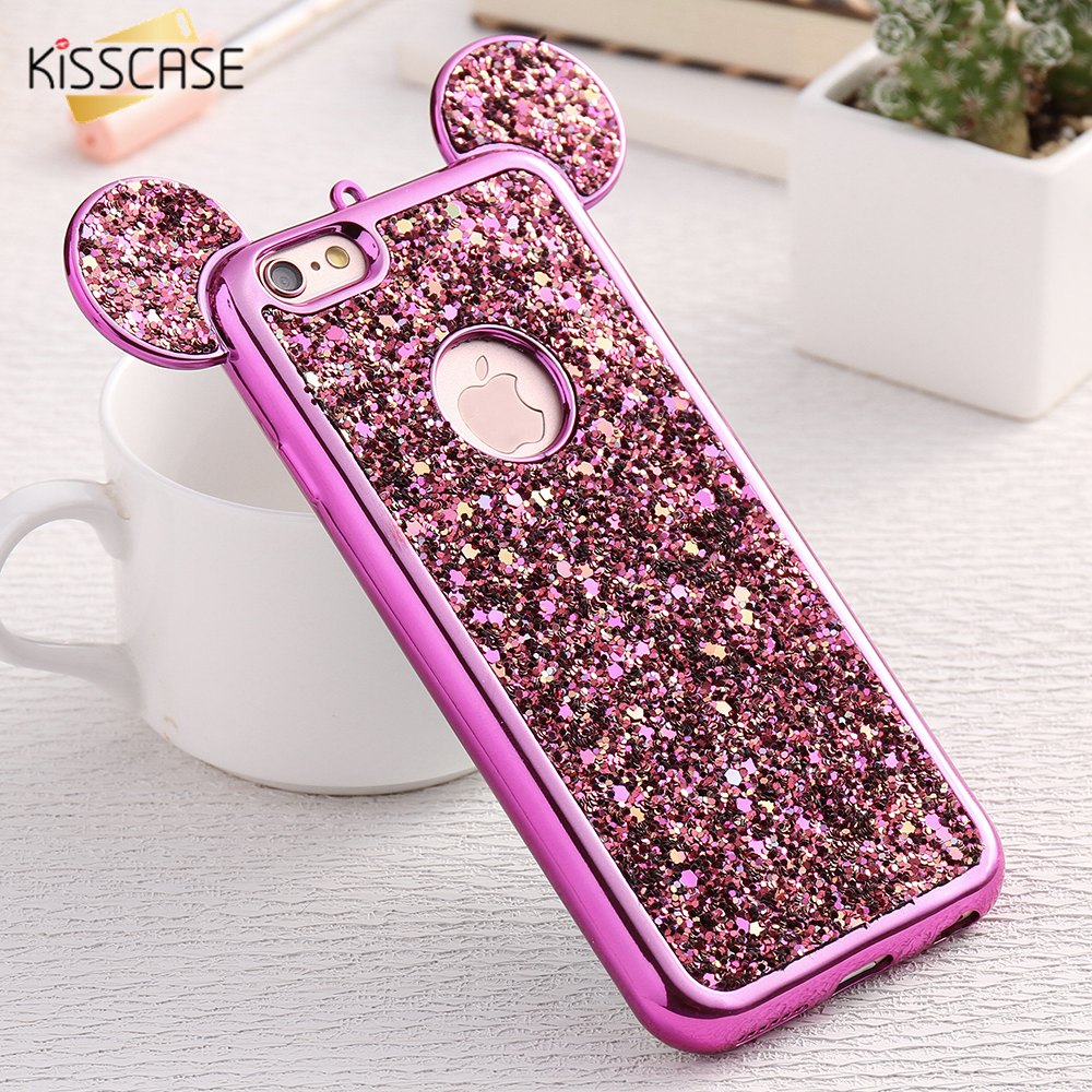 223b8f29a KISSCASE 3D Mickey Mouse Silicone Case For iPhone 6 6s Plus 7 7 Plus 5 5s