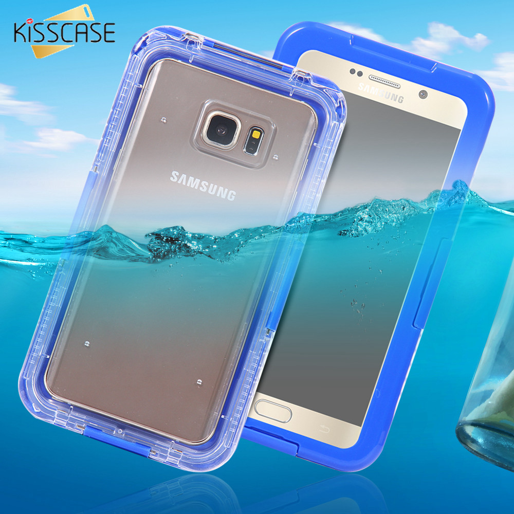 Kisscase Sport Waterproof Swimming Case For Samsung Galaxy Note 5 Original 3d Relief Superhero Soft Meizu M3s Inch S6 Edge Plus Diving Clear Front Back Full Pouch Cover Bags