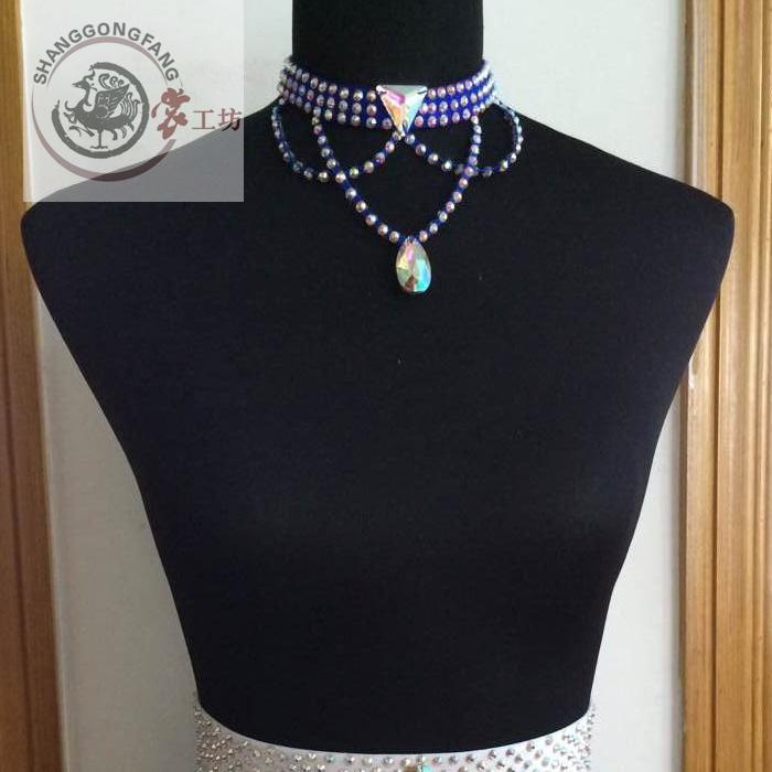 New Style Latin Dance Accessories Gems Latin Dance Necklace For Women Latin Dance Necklaces