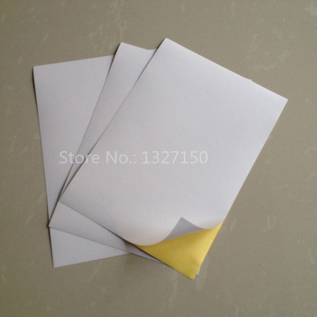 a5 glossy white self adhesive sticker paper printing printer paper
