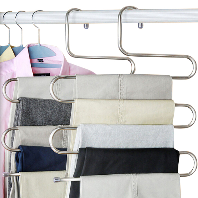 Ordinaire Trousers Hanger Magic Pants Clothes Closet Belt Holder Rack Bathroom Room  Kitchen Shelf Organizer And Storage