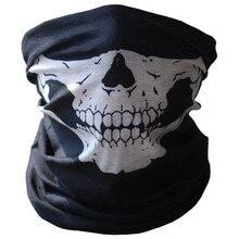 Новинка, велосипедная Лыжная маска с черепом, маска для лица, шарф-призрак, многофункциональная грелка для шеи, COD# NE821