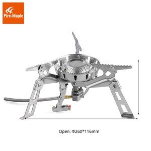 Image 3 - אש מייפל קמפינג גז מבערי Windproof 3600W מרחוק גז תנור FMS 123 חיצוני אש תנור