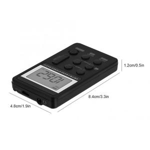 Image 4 - Portable Radio FM AM Dual Band Stereo Mini Pocket Radio Receiver with LCD Display & Earphone & Rechargeable Battery