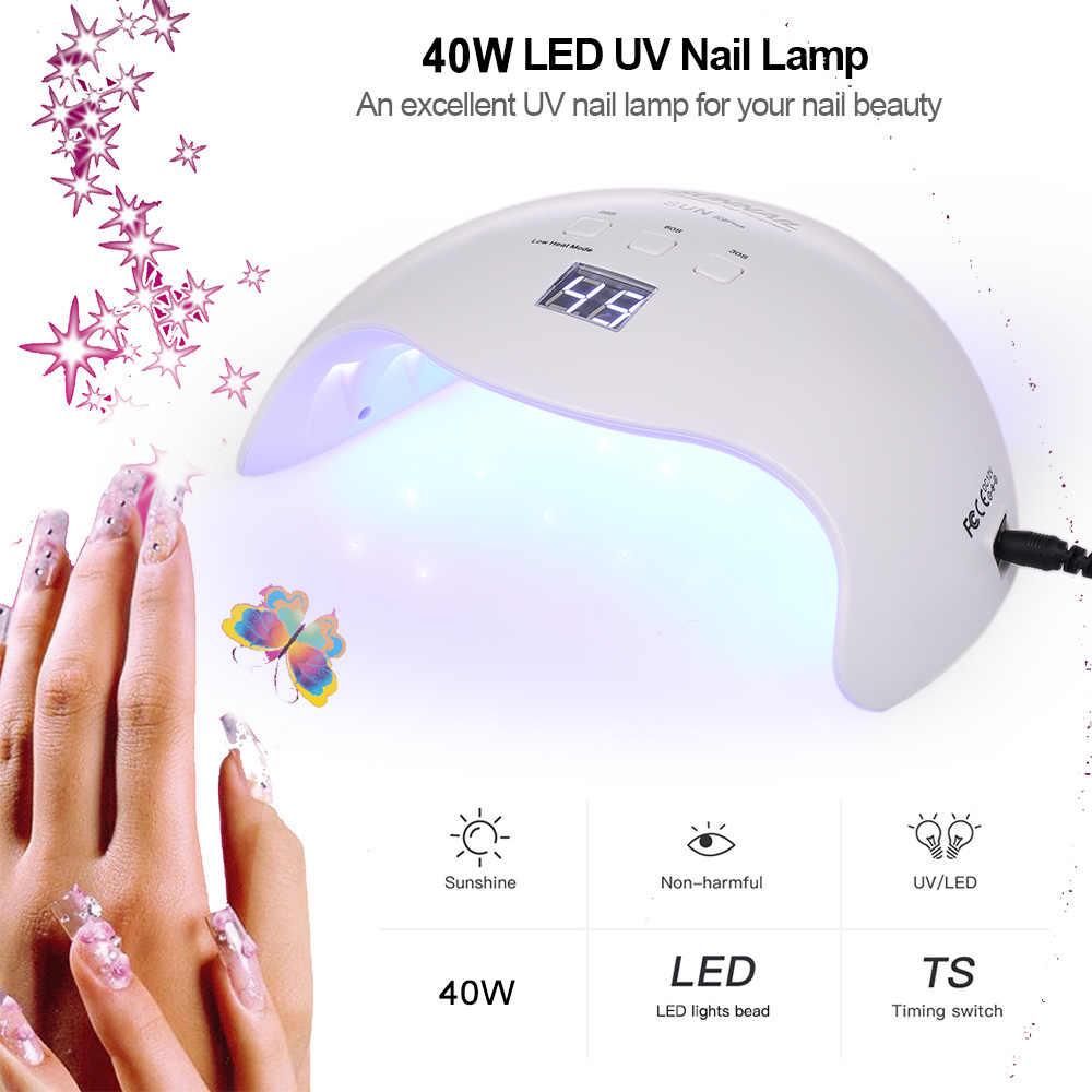40 W שמש X9plus LED UV נייל מנורת מייבש ייבוש כל ג 'לים לק עבור מקצועי מניקור נייל אמנות כלים ג 'ל הפולני אשפרה