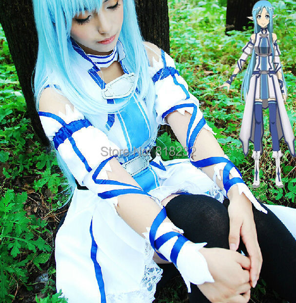 SAO Sword Art Online Yuuki Asuna Uniform Dress Outfit Anime Cosplay Costumes rolecos brand japanese anime sword art online cosplay costume asuna yuuki full set women cosplay costumes