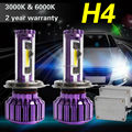 TAITIAN Pair H4 Turbo High/Low Car LED Headlight Lamp Bulbs Conversion Kit 6000K 10000Lm
