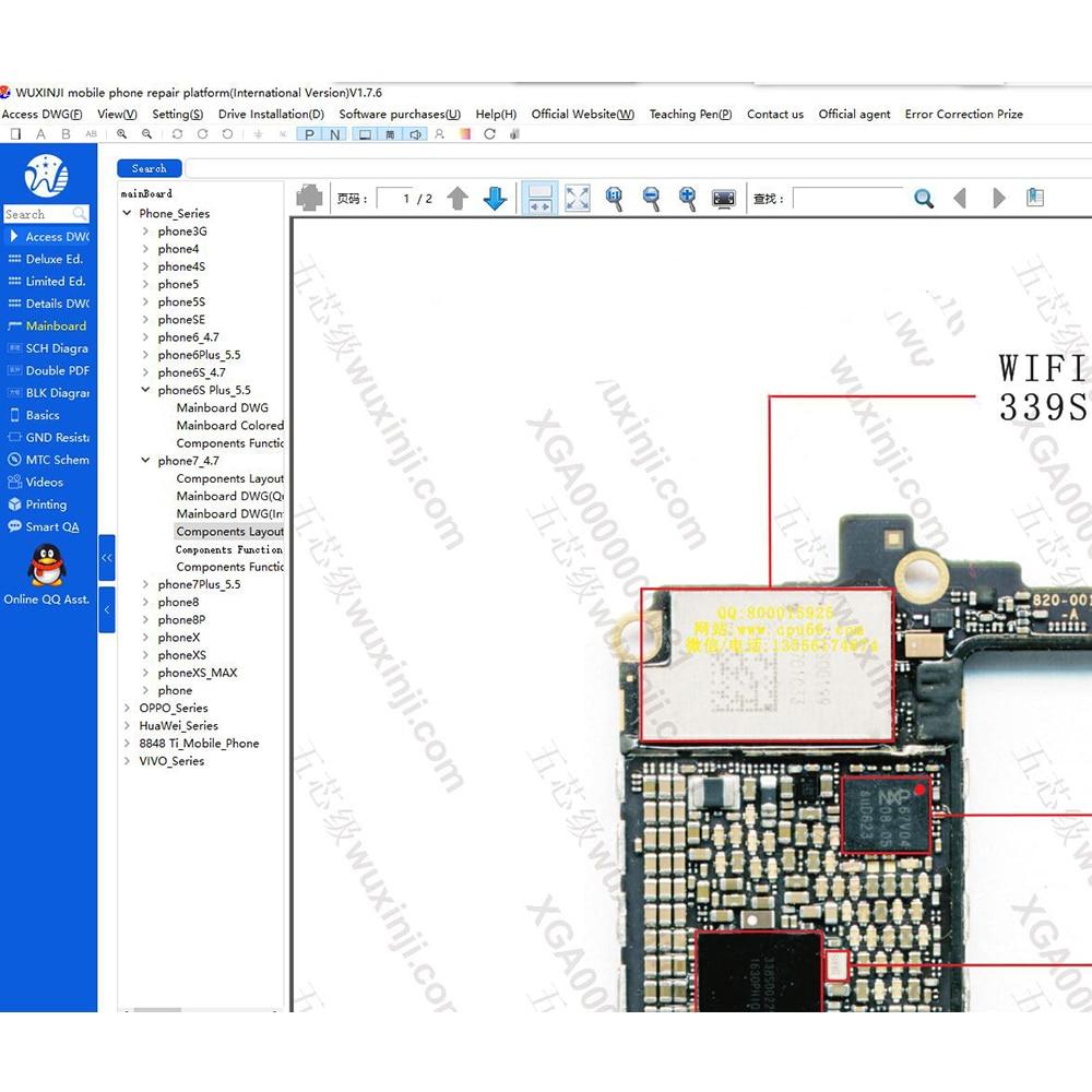 Orginal WUXINJI Board Wu Xin Ji Schematic Diagram Repairing Drawings For IPhone IPad Samsung Motherboard Map Phone Software