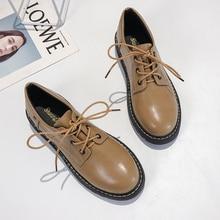 Zapatos Oxford de moda para mujer zapatos Vintage zapatos deslizantes en zapatos planos de cuero para mujer zapatos negros plataforma suave oxford