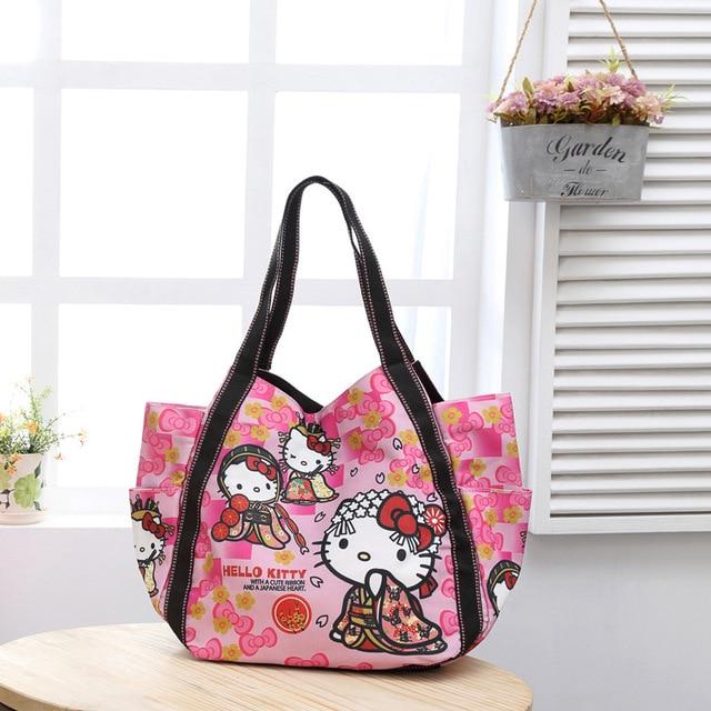 Cartoon Hello Kitty Neverfull Crossbody Bags Designer Handbags High Quality  Fashion Tote Bag For Women Leather Handbags fd5832d5f930d