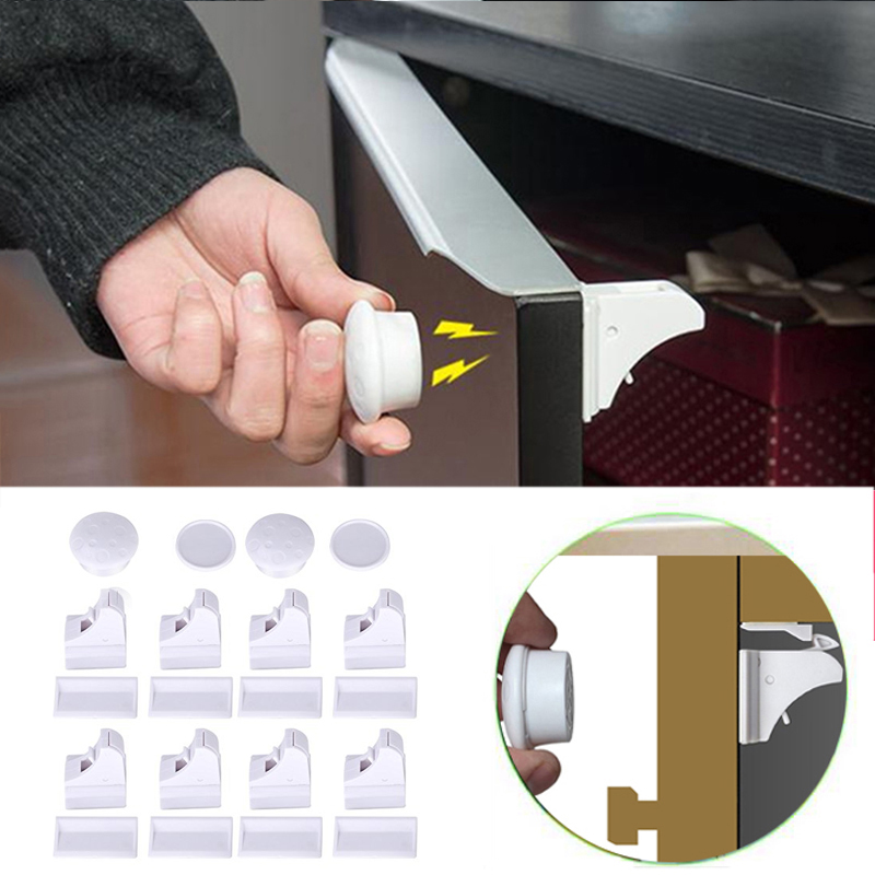 Magnetic Child Lock Baby Safety Cabinet Lock Children Protection Kids Drawer Locker Baby Security Cupboard Childproof Locks