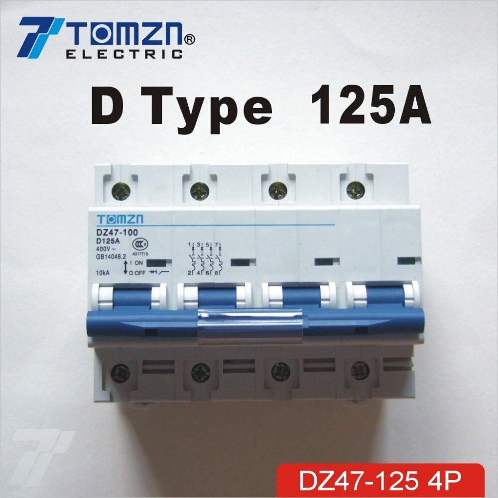 4P 125A 240V/415V 50HZ/60HZ Circuit breaker MCB4P 125A 240V/415V 50HZ/60HZ Circuit breaker MCB
