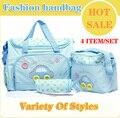 Бесплатная Доставка Горячей модные сумки мумия/мама мешок ребенка детские товары пеленки сумки детские большие дизайнер пеленки сумки
