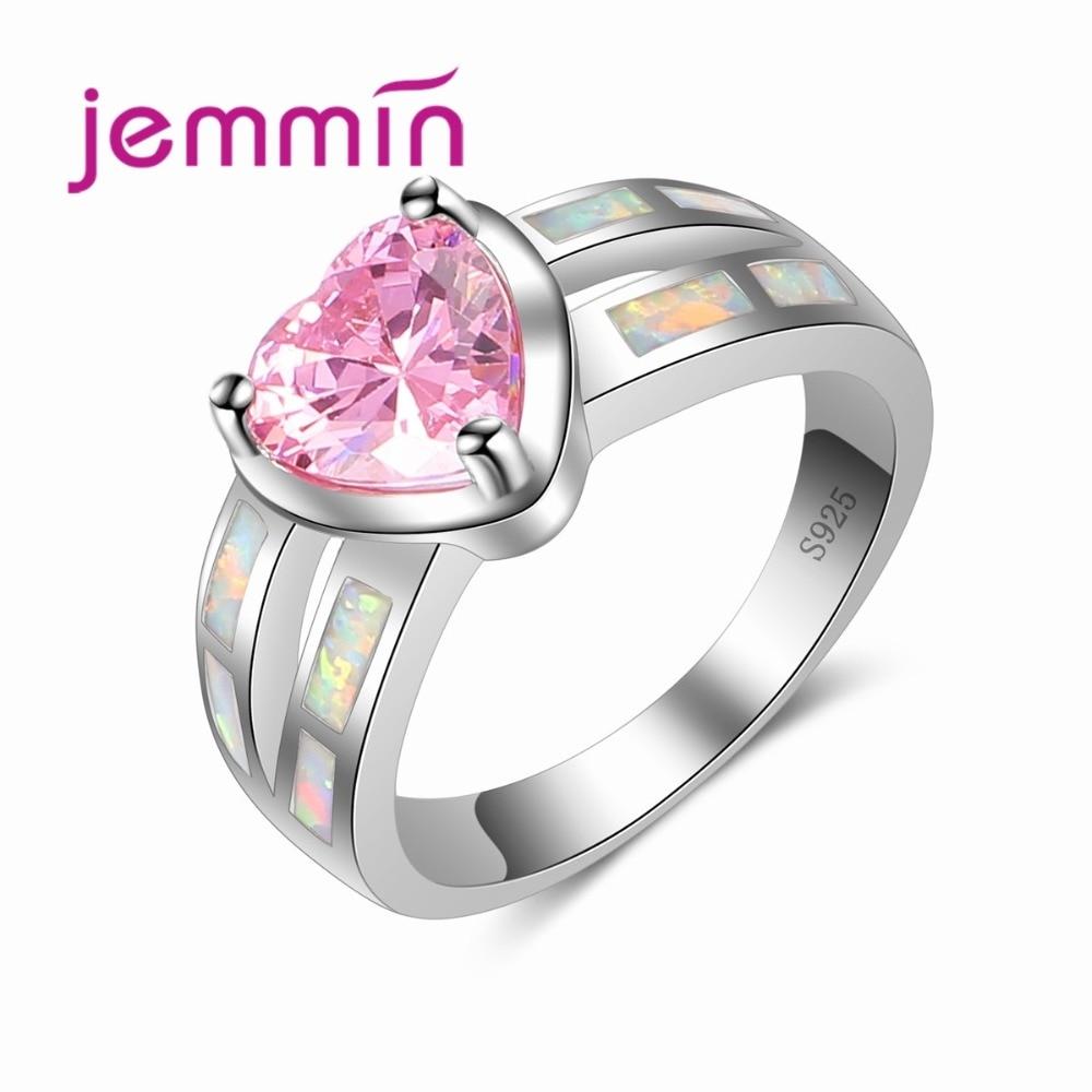Вишукані обручки з серцем рожевий - Вишукані прикраси