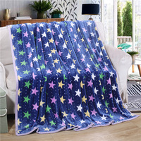 Simanfei 2017 Fashion Printed Coral Velvet Blankets For Beds Thick Summer Air Conditioning Sofa Throw