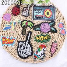 9Pcs Mixture Sell DIY Cheap Embroidered Outlaw Biker Patches For Clothing Iron On Punk Rock Patch Badges For Clothes Stickers цена и фото