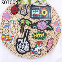 1Pcs Mixture Sell DIY Cheap Embroidered Outlaw Biker Patches For Clothing Iron On Punk Rock Patch Badges For Clothes Stickers(China)