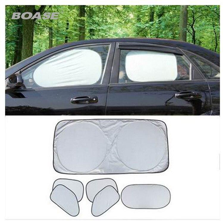 6 st / fönster Bilfönster Solskydd Fällbart fönster Vindruta Fullsköld Visir Block Solskydd Cover Bilstyling