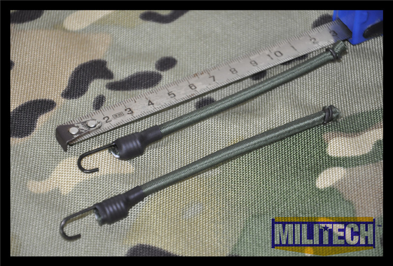 MILITECH Oliver Drab OD Color Bungee Cords With Hook For NVG Helmet Rails System DEVGRU OPS FAST Mich ACH PASGT Gentex Helmets