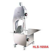 HLS 1650A Commercial Saw Bone Machine Bench Cutter Saw Machine Chill Fork Cutter Machine Chop Pork Electric Slicers 750W