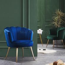 Sofá simple de tela de lujo ligero, sala de estar, balcón, dormitorio, pequeño apartamento, silla de salón simple y moderna