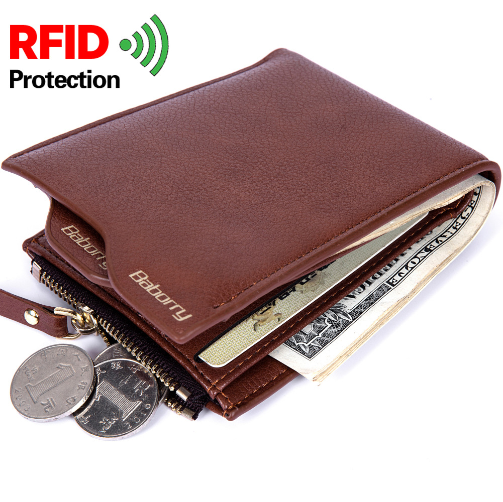 Baborry RFID Wallets for Men Fashion Solid …