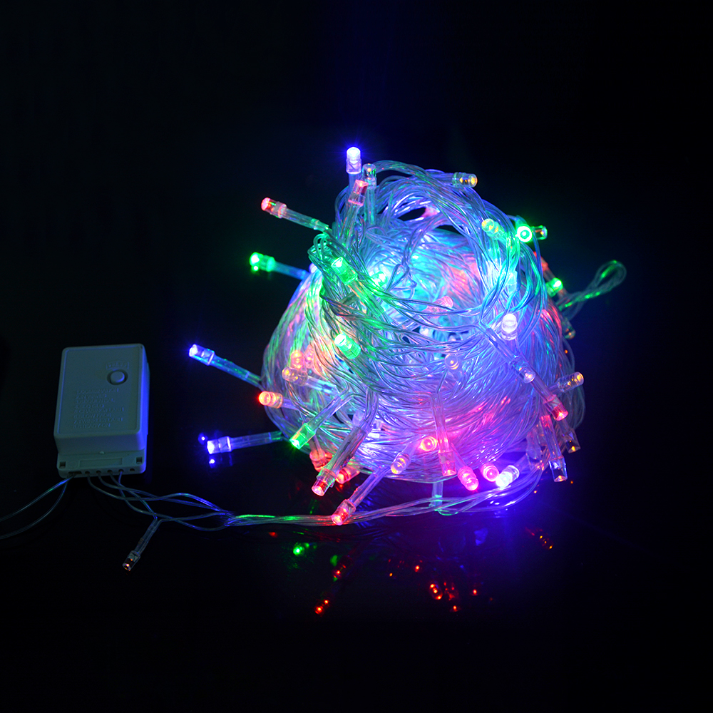 EU US Pulg 110V 220V LED Holiday Christmas String lights decoration 10M waterproof Outdoor Lamp ...