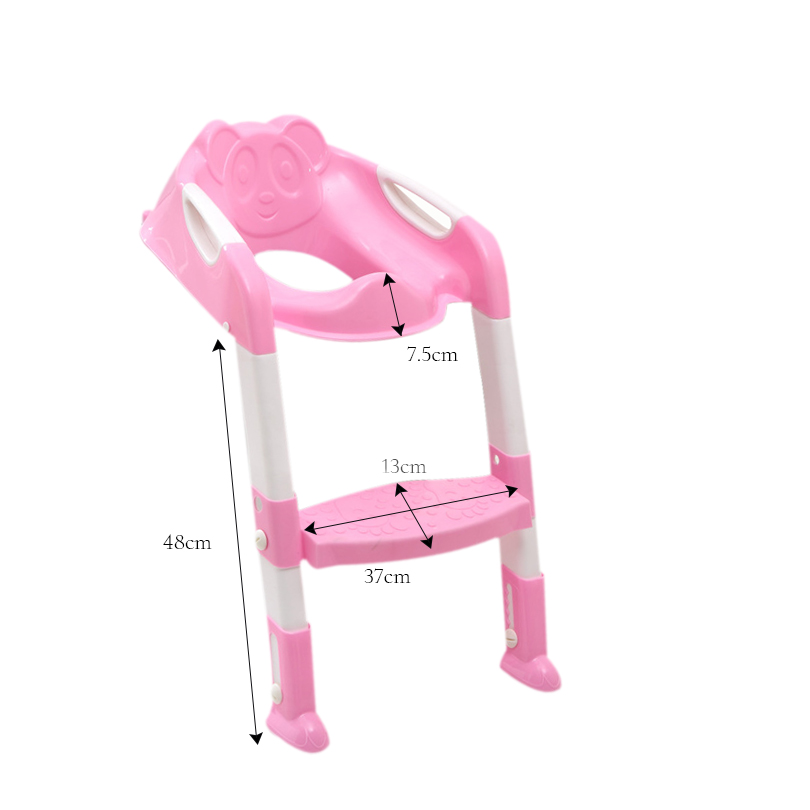 cute panda potty training seat with ladder. Black Bedroom Furniture Sets. Home Design Ideas