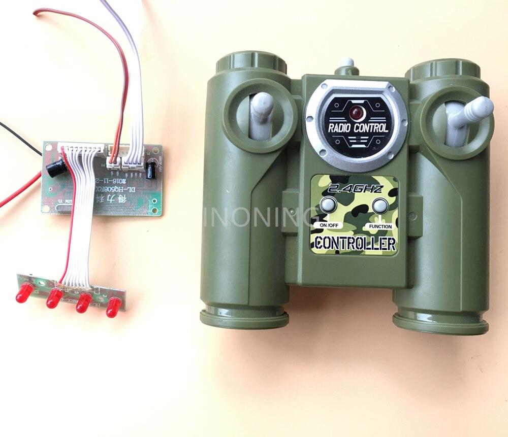 2018 novo 2.4g 6ch controle remoto huanqi módulo de rádio placa da unidade para diy carro tanque navio
