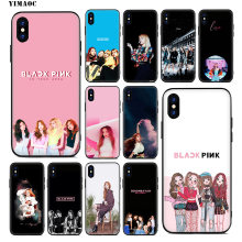 YIMAOC Blackpink Black Pink Rose Lisa Soft Silicone Case for iPhone Xr Xs Max X or 10 8 7 6 6S Plus 5 5S SE Cover(China)
