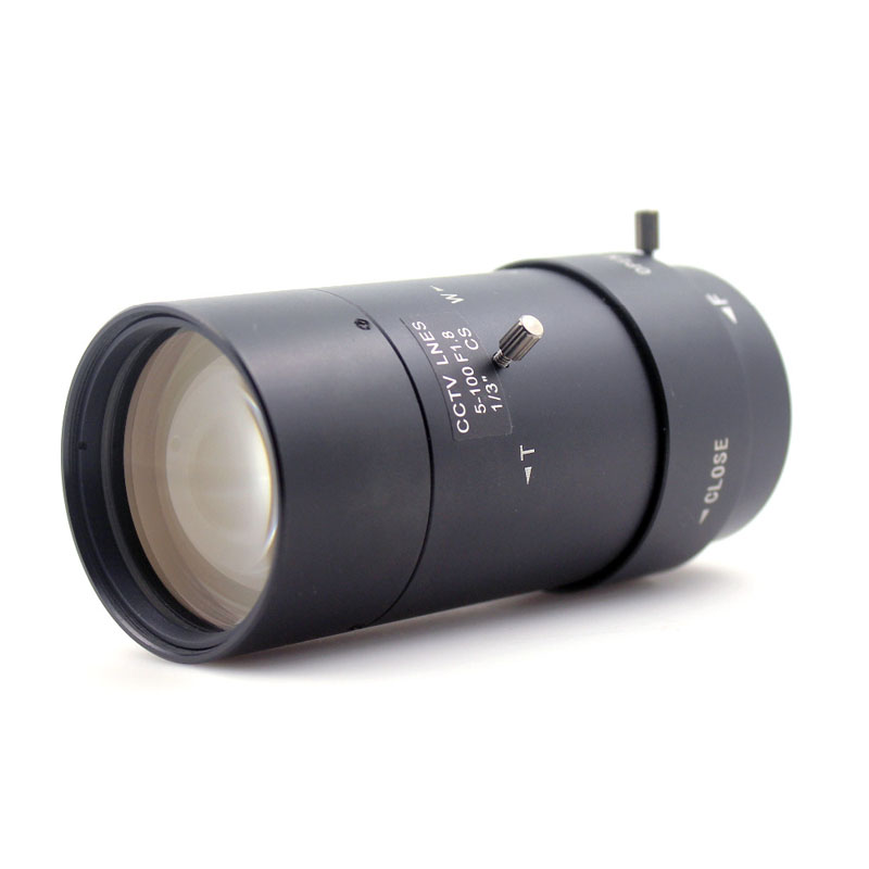 New 5-100mm Lens HD 3-55 Degree CS Mount Infrared Night Vision Manual Zoom Lens For CCTV Security Camera