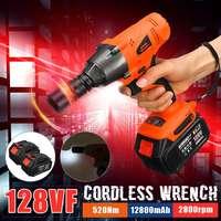 128 v 520nm sem escova sem fio chave elétrica tomada de impacto com bateria recarregável mão broca instalação ferramentas elétricas|Chaves elétricas| |  -