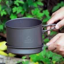Thousand Oaks /TOAKS outdoor cookware titanium pot T-16 1600ml 2-3 pot with a frying pan authentic camping toaks 1600ml cookware set ultralight titanium pot frying pan outdoor camping titanium bowl titanium cup picnic