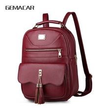 Female Backpack  Simple And Comfortable Women's Bag Pu Leather Rucksack Soft Back Business Bag Elegant Atmosphere simple men s backpack with zip and pu leather design
