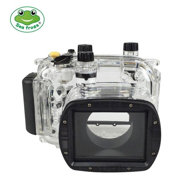 สำหรับ Canon G11 G12 กล้องกันน้ำเคสพลาสติก PC โปร่งใสฝาครอบดำน้ำความลึก 40 เมตรฟังก์ชั่นกล้อง
