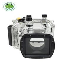 עבור Canon G11 G12 מצלמה עמיד למים דיור מחשב פלסטיק מקרה שקוף כיסוי צלילה עומק דירוג 40 m בקרת מצלמה פונקציות