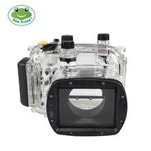 Für Canon G11 G12 Kamera Wasserdichte Gehäuse PC Kunststoff Fall Transparente Abdeckung Tauchen Tiefe Bewertung 40 m Steuer Kamera Funktionen