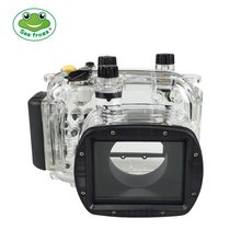 For Canon G11 G12 Camera Waterproof Housing PC Plastic Case Transparent Cover Diving Depth Rating 40m Control Camera Functions