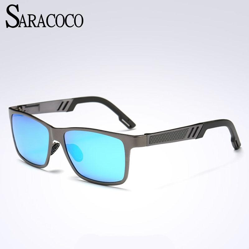 Saracoco высокое качество марка поляризованный вождения солнцезащитные очки 2017 с оригинальной упаковке квадратные Polaroid линзы солнцезащитные …