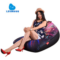 LEVMOON Beanbag Sofa Chair Guardians Seat Zac Shell Comfort Bean Bag Bed Cover Without Filler Cotton