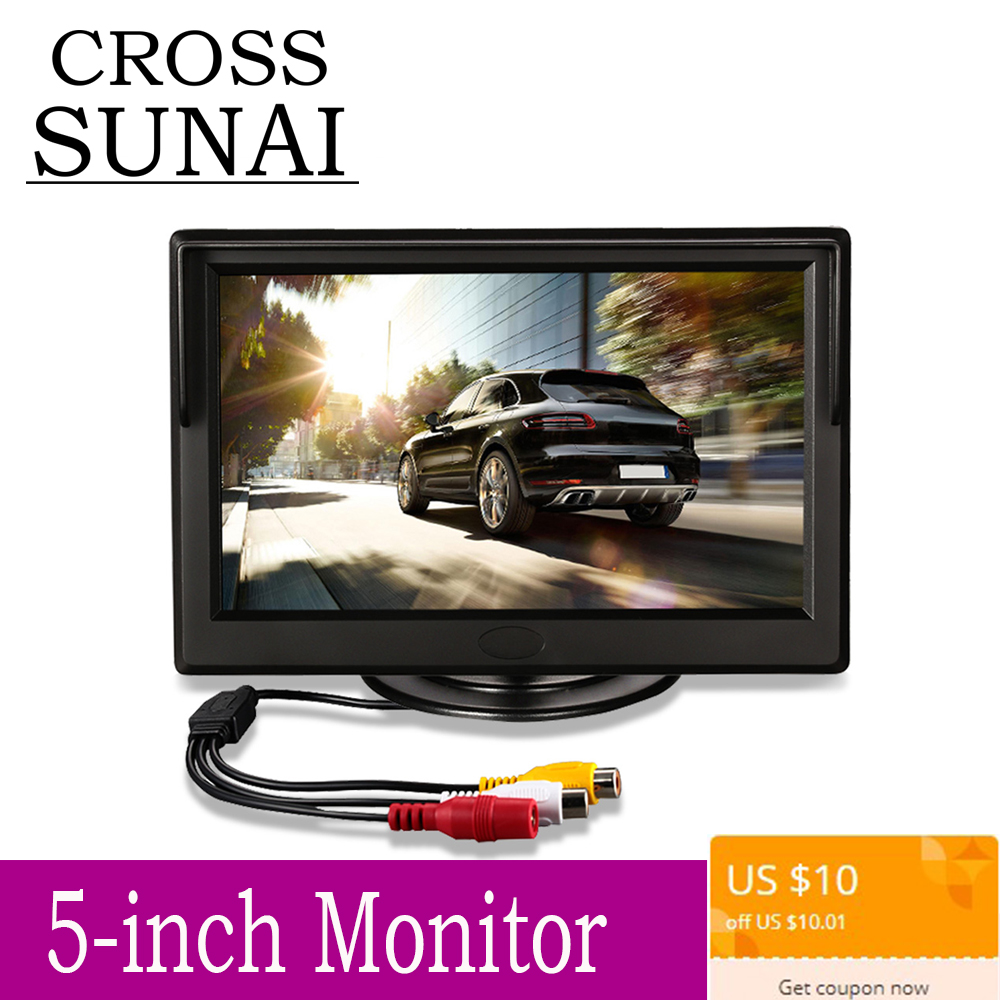 5 pouces TFT LCD moniteur de voiture pliable moniteur affichage caméra arrière système de stationnement pour voiture moniteurs de recul NTSC PAL joueur