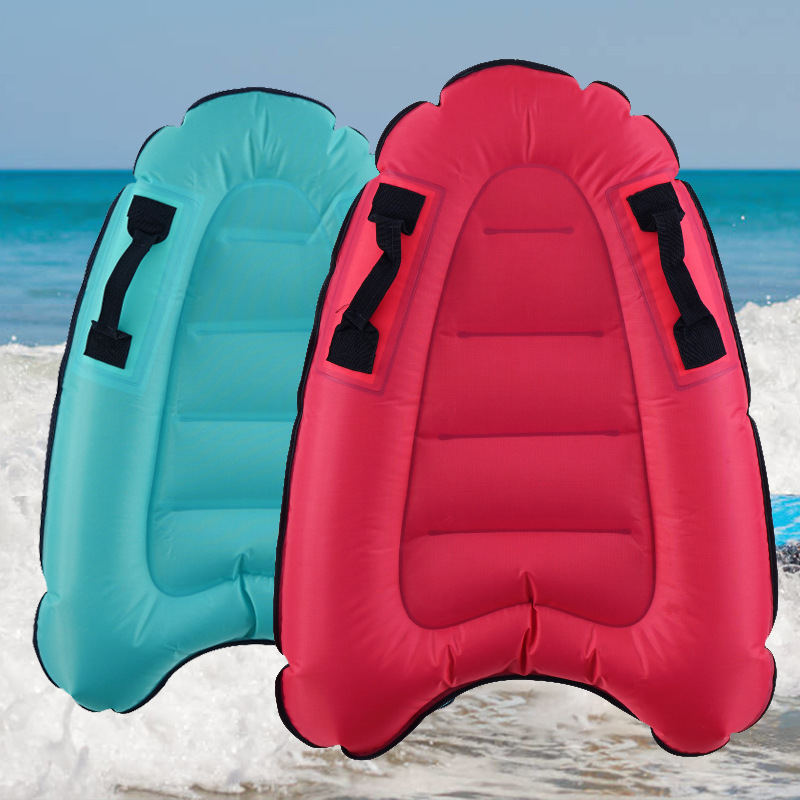 Outdoor Inflatable Surfboard Solid Color Buoy Kickboard Kids Safe Sea Surfing Board