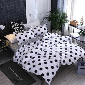 Image 3 - Four Piece Quilt Cover, Pillowcase Dot Black Full Size duvet cover  bedroom sweet dreams Gently mattresses beauty salon couch