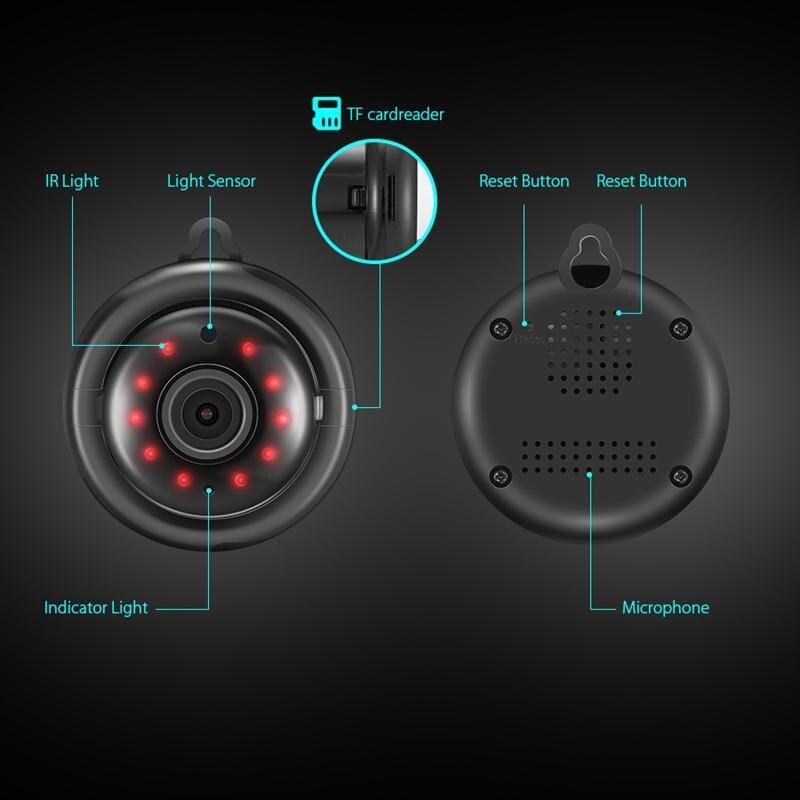 Caméra Digoo DG-QB01 Mini 2.4GHz 720P 2.1mm Objectif Objectif Nocturne sans fil.