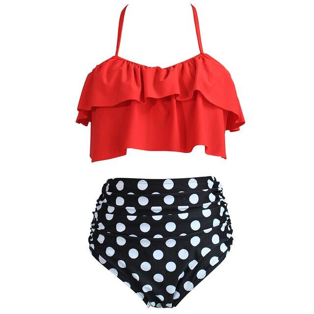 87a1bede87 Plus Size Swimwear Women Push Up Swimsuit 2018 Bikini Floral Bathing Suit  High Waist Bandage Bikinis Set Summer Beach Swim XXXL