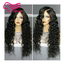 New unprocessed virgin full lace front human hair wigs Peruvian glueless kinky curly with Natural baby hair free shipping