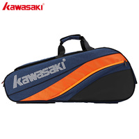 2019 Kawasaki Badminton Bag Large Capacity Racquet Sports Bag Honor Series For 6 Badminton Rackets With Two Shoulders KBB 8641