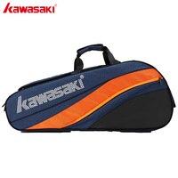 2019 Kawasaki Badminton Bag Large Capacity Racquet Sports Bag Honor Series For 6 Badminton Rackets With Two Shoulders KBB 8641