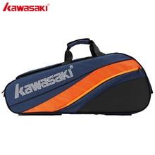 2019 Kawasaki tenis çantası büyük kapasiteli raket spor çantası onur serisi 6 Badminton raketleri iki omuz KBB 8641